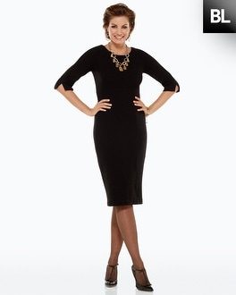 Black Label Solid Sheath Dress