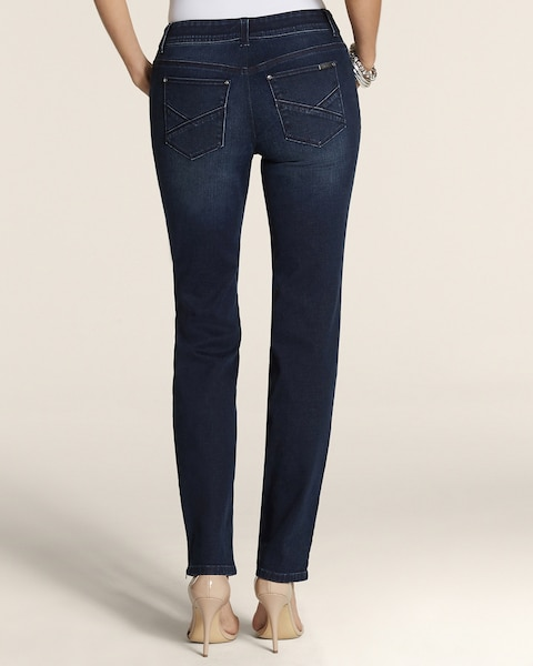 Zip Ankle Jeans in  Dark Vintage