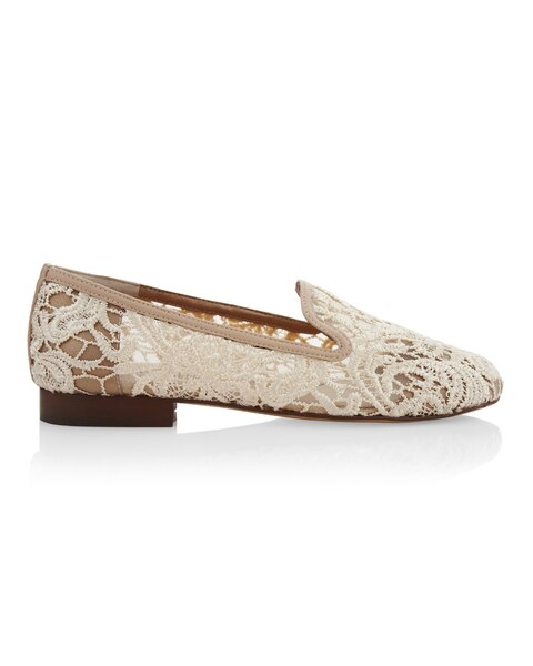Aggie Beige Lace Loafer