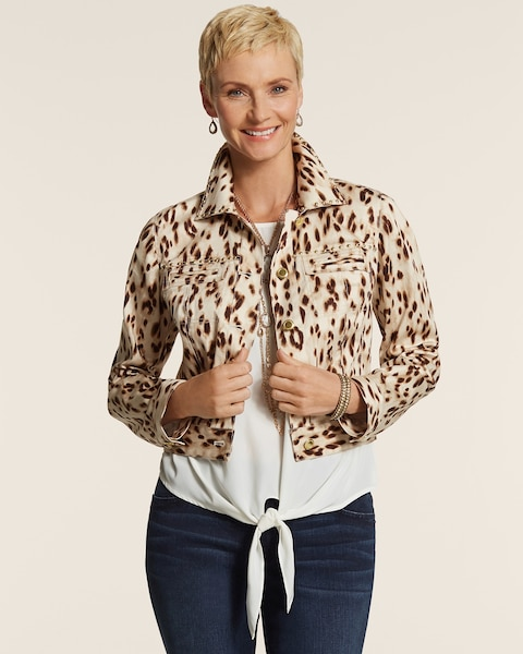 Cheetah Nailhead Jacket