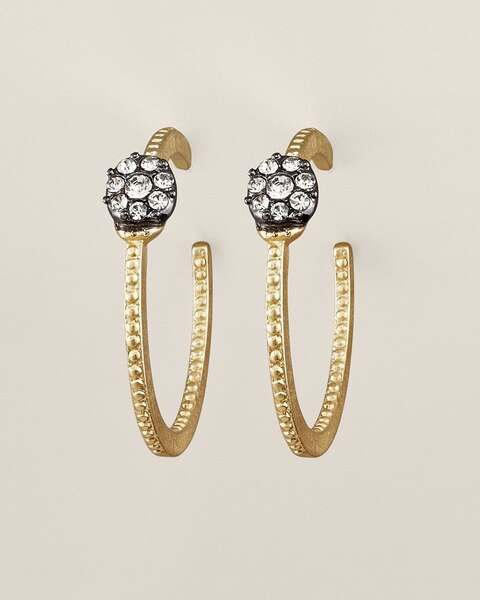 Hazel Pave Hoop Earrings