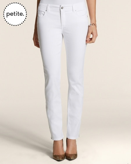 Petite So Slimming By Chico's Zip Ankle Jeans