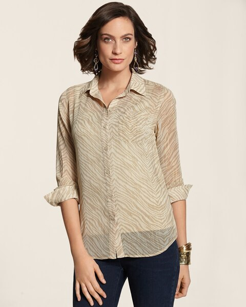 Golden Luxe Zebra Sady Top