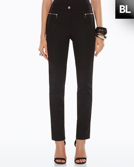 Black Label Seamed Double Weave Pants