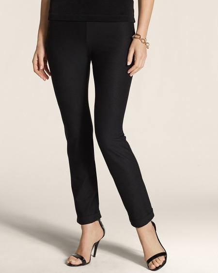 Crepe Cuff Ankle Pants