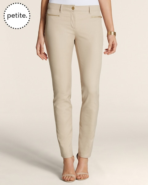 Petite So Slimming By Chico's Getaway Zip Pocket Ankle Pants