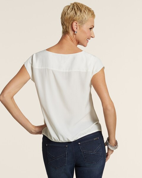 Soft Ease Tie Tee