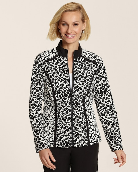 Neema Piped Print Jacket