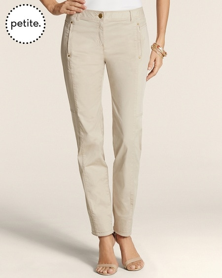 Petite Casual Cotton Everyday Ankle Pants