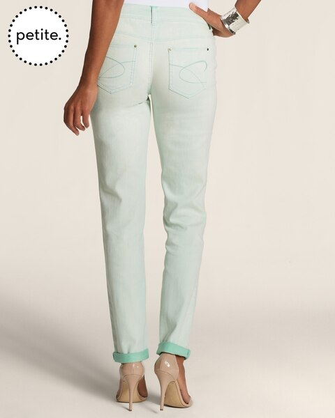 Petite Platinum Denim Roll Cuff Ankle Jeans