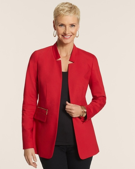 City Chic Open Front Longer Blazer