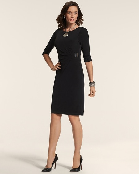By Chico's Solid Black Dress