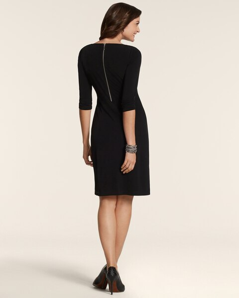 By Chicos Solid Black Dress Chicos