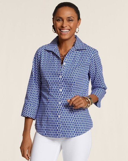 Effortless Leaf Geo Layne Shirt
