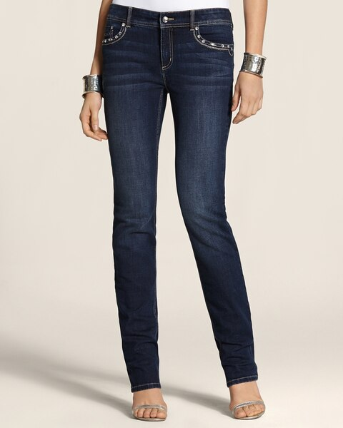 Glinting Crest Jeans