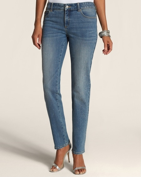Scattered Studs Ankle Jeans