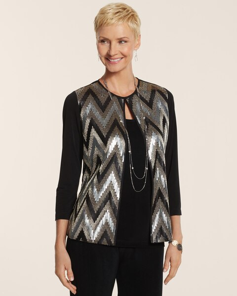 Chevron Stella Jacket