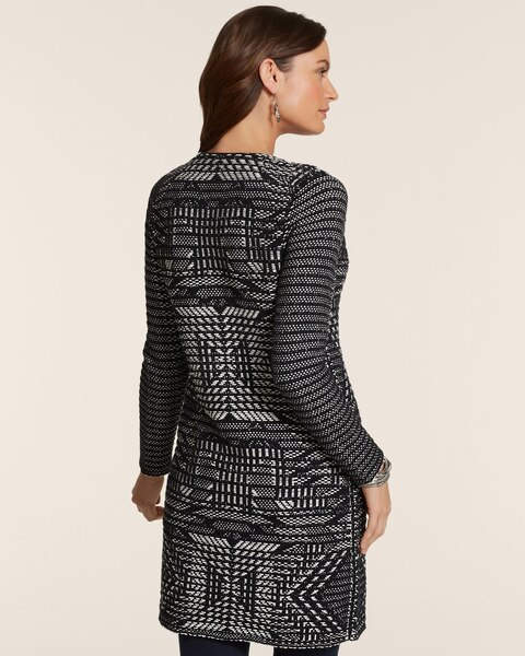 Graphic Jacquard Harper Sweater-Coat