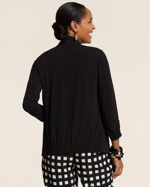 Soft Knit Drape Front Jacket