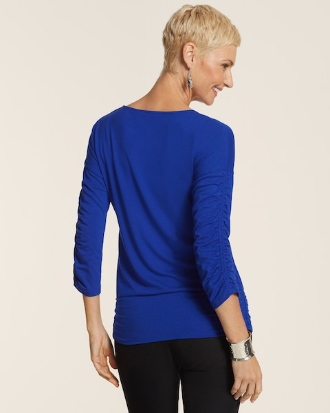 Shirred Sleeve Top