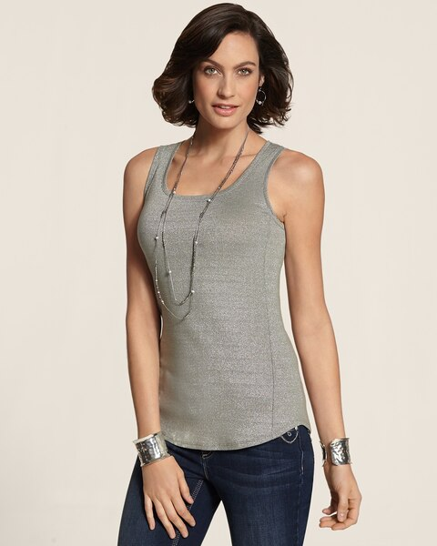 Shimmer Shirttail Tank