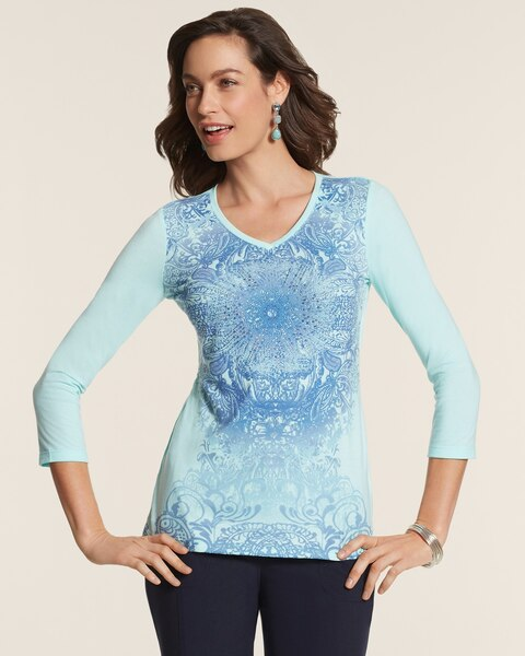 Randa Color Medallion Top