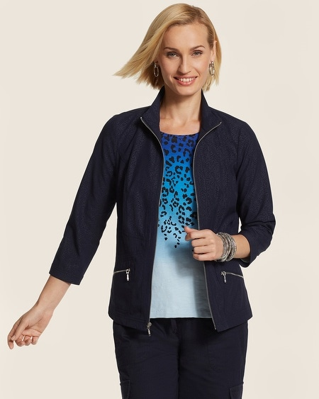 Neema Embossed Solid Jacket