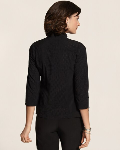 Neema Perforated Black Jacket