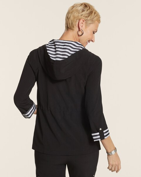 Neema Stripe Trim Hooded Jacket