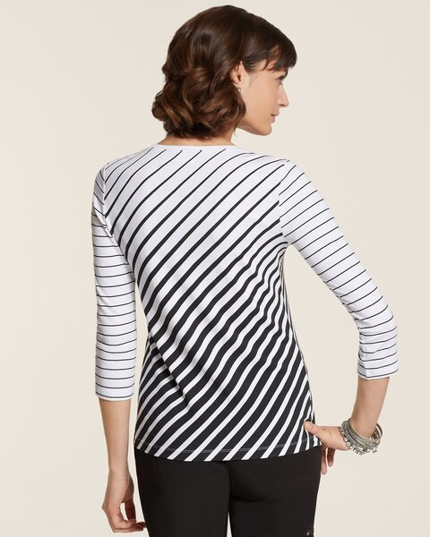 Shelbi Diagonal Stripe Tee