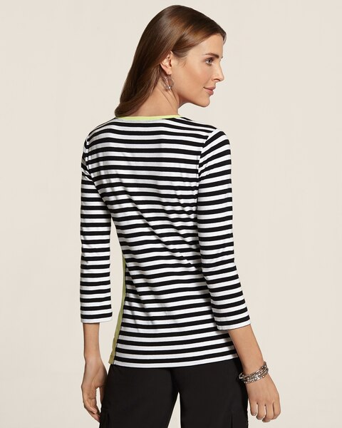 Shaila Block Stripe Top