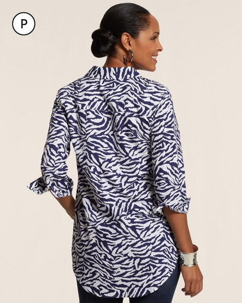 Petite Effortless Zebra Safari Sina Shirt