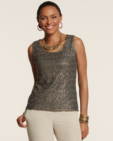 Scattered Sequin Tank