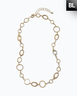 Black Label Long Layer Link Necklace