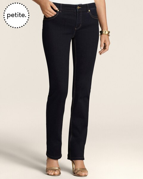 Petite So Lifting By Chico's Rinsed Indigo Slim-Leg Jeans
