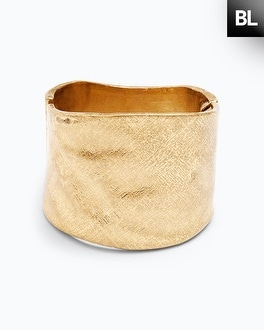 Black Label Solid Cuff Bracelet