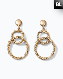 Black Label 2-Drop Linear Earrings