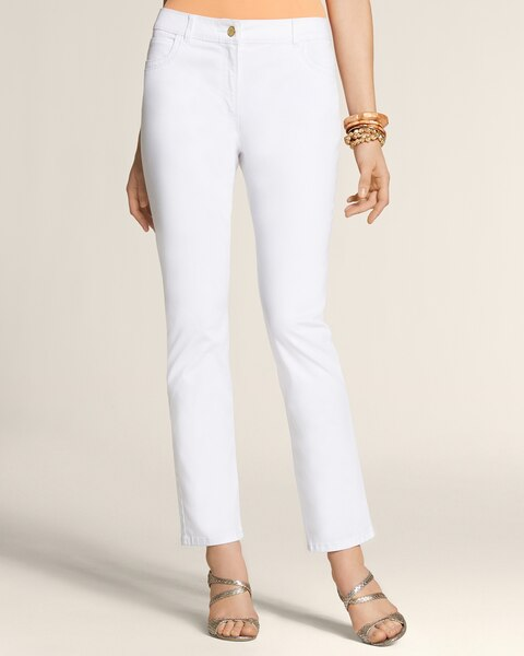 Casual Sateen 5-Pocket Skimmer