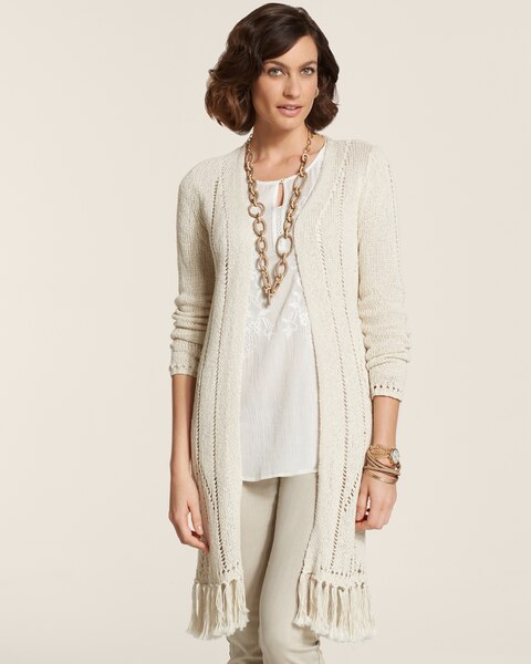 Fringe Hem Christy Cardigan