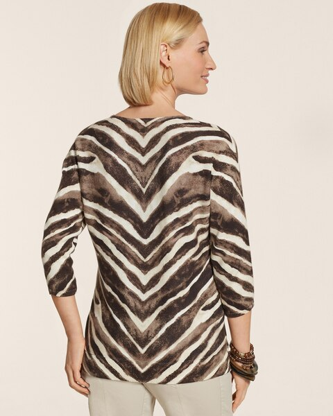 Antique Zebra Preston Pullover