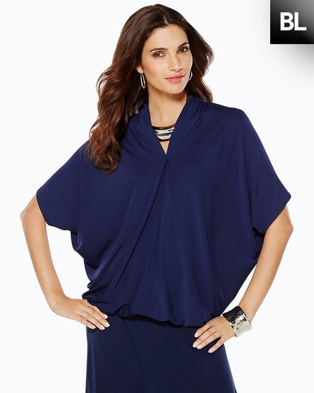Black Label Dolman Sleeve V-Neck Top
