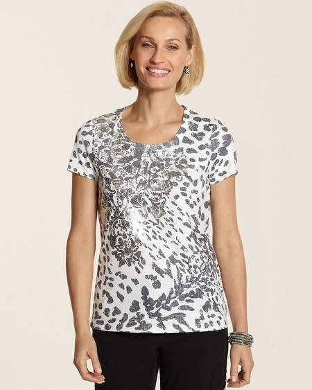 Nessa Animal Foil Scroll Tee