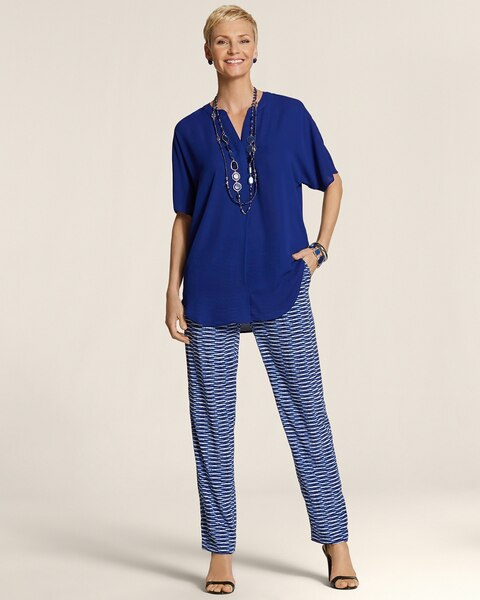 Blurred Between The Lines Pull-On Ankle Pants