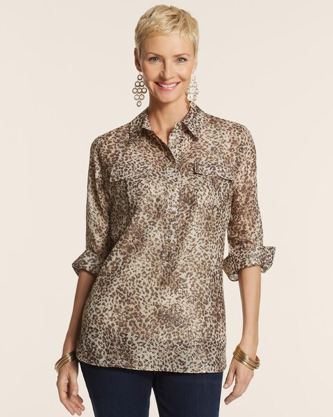Metallic Animal Claire II Top