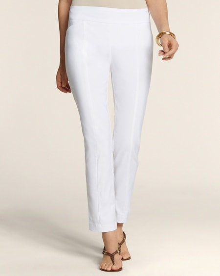 So Slimming Slim Stretch Pull-On Ankle Pants