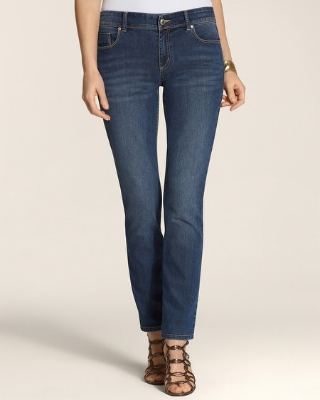 Platinum Denim Gold Lattice Ankle Jeans