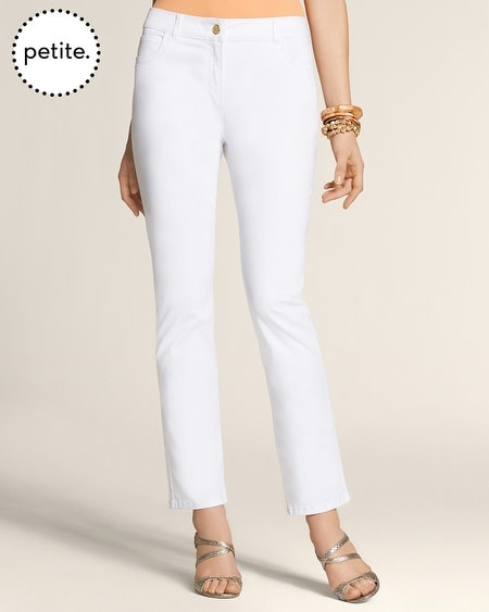Petite Casual Sateen 5-Pocket Skimmer