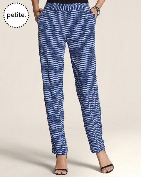 Petite Blurred Between The Lines Pull-On Ankle Pants