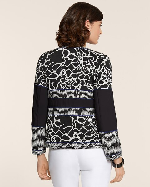 Artisan Jacquard Blocked Jacket