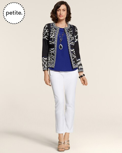 Petite Artisan Jacquard Blocked Jacket